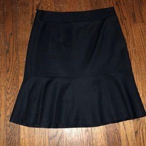 Pencil skirt with ruffle bottom